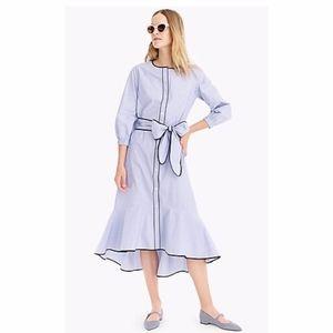 J.Crew Button-Up Blue Cotton Dress Sz 0 EUC